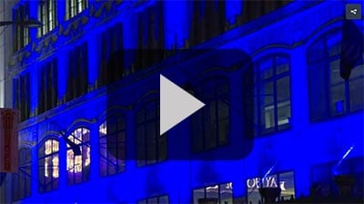 Cleveland Glows Blue video