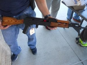 AK 47 retrieved during gun buyback