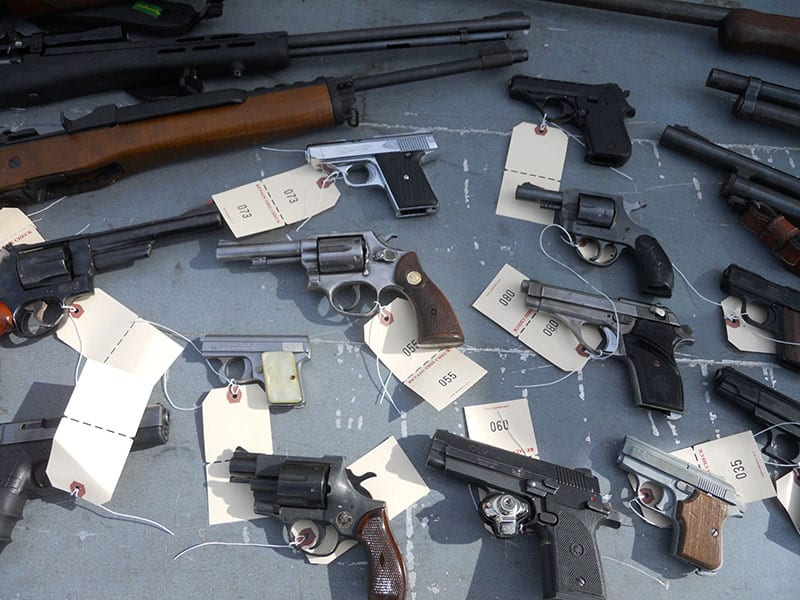 Guns collected at 2017 Gun Buyback event