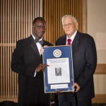 Retired Chief Edward P. Kovacic Lifetime Achievement Award, pictured with CPD Chief Calvin Williams