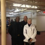 Marcia Nolan from the Cleveland Police Foundation with Community Policing's officers Al Strange and Ed Schulte