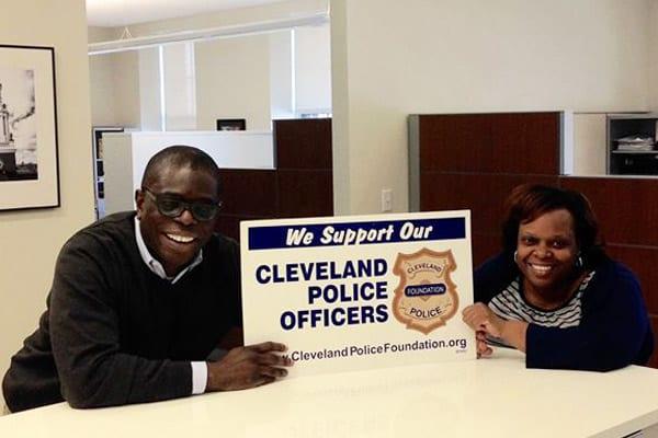 Nelson, Angel, and the Saint Luke's Foundation, support Cleveland Police and the Cleveland Police Foundation