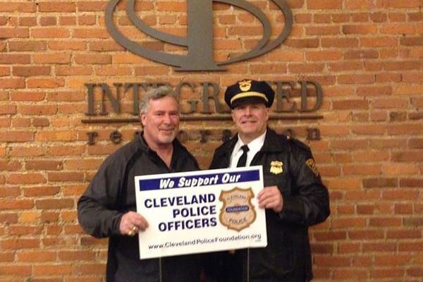 Tom Stuckart, from Integrated Restoration, 3348 St. Clair, supports Cleveland Police and the Cleveland Police Foundation.
