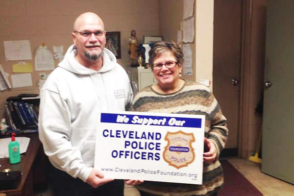 Scott and Lisa, from Setta Trophy, 4335 Rocky River Dr., support Cleveland Police and the Cleveland Police Foundation.