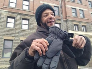 William wants to thank Onix Outreach and the Cleveland Police Foundation for giving him a new pair of gloves on a cold winter day.