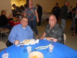 "Retired C.P.D. Officers John Thomas, and Jeff  "" look at my face "" Stanczyk  at the Cops for Causes event."