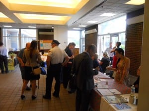 "Riverview Towers was a busy place as residents took advantage of the health challenge event "" a Cop, a Doc, and a Councilman ""."