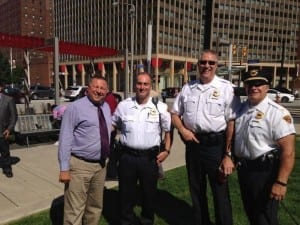 A big thanks to 3rd District Commander Stephens, WKNR's Munch Bishop, and Lt. Paul Zagaria for supporting The Cleveland Police Foundation.