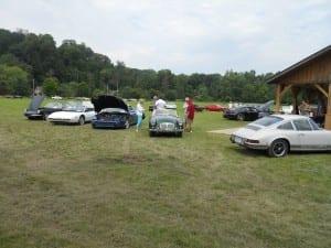 Classic vehicles on display