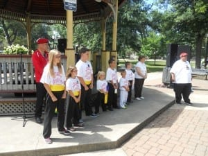 The junior Guardian Angels received recognition also