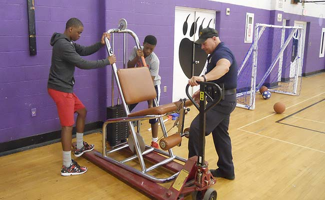 New exercise equipment for Cudell Recreation Center