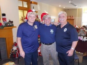 Three of Santa's old retired elves. (Bob Guttu, John Thomas, Jeff Stanczyk)