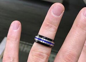 Thin Blue Line ring