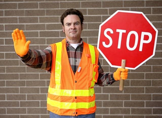 School crosswalk guard