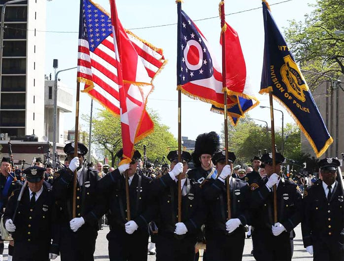 Cleveland Police Honor Guard incl Tom Ross