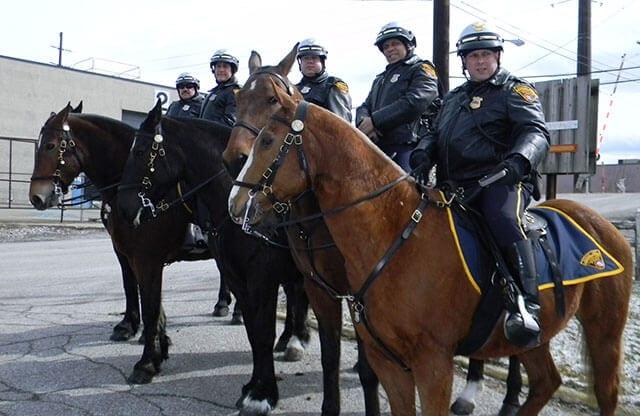 Mounted police - Tony - 1969 historical photo