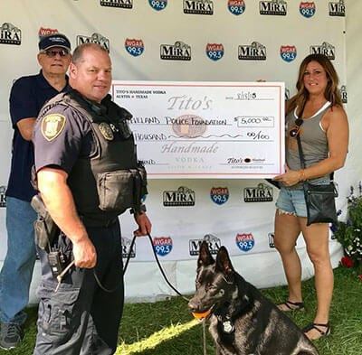 WGAR Donation for K-9 Program