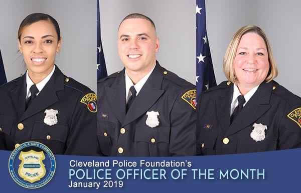 January 2019 POMs - Patrol Officers Lyniece Turner, Juan DeJesus and Kerry Novak-Adams
