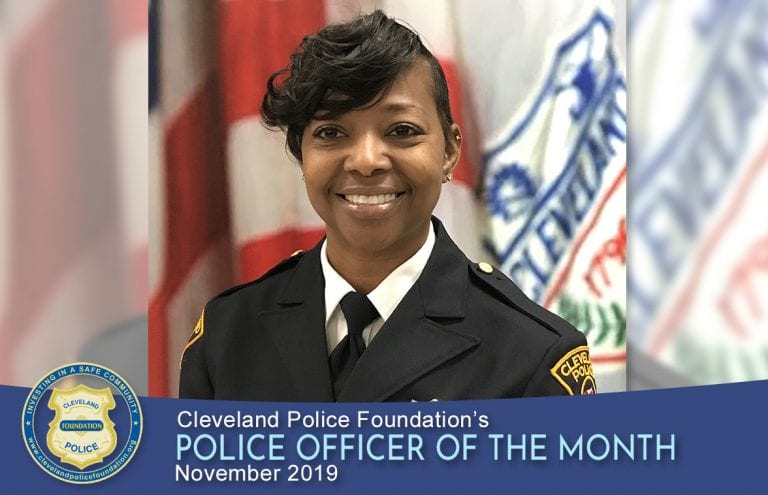 Cleveland Police Foundation's Police Officer of the Month for November 2019, Sergeant Tryna McCaulley