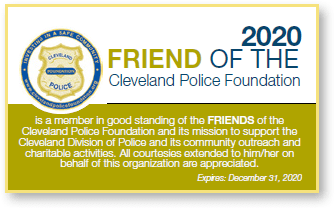 FRIEND of the Cleveland Police Foundation Membership Card