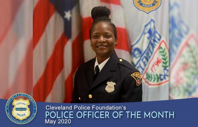 Cleveland Police Foundation's Police Officer of the Month for May 2020, Patrol Officer Lakisha Harris