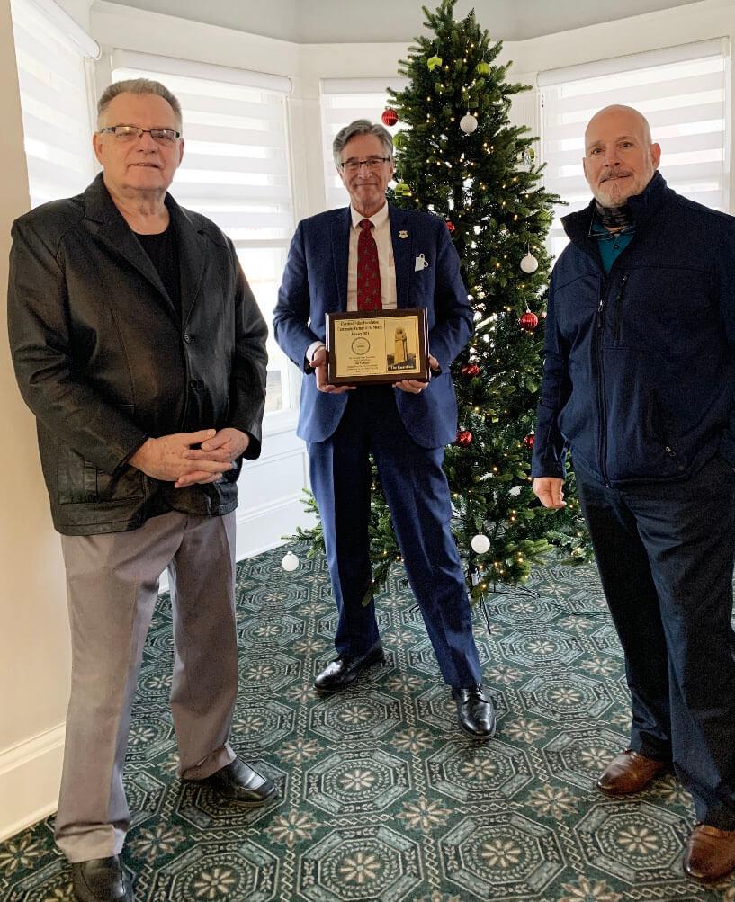 im Craciun - center - with CPF Staff Bob Guttu and Keith Sulzer
