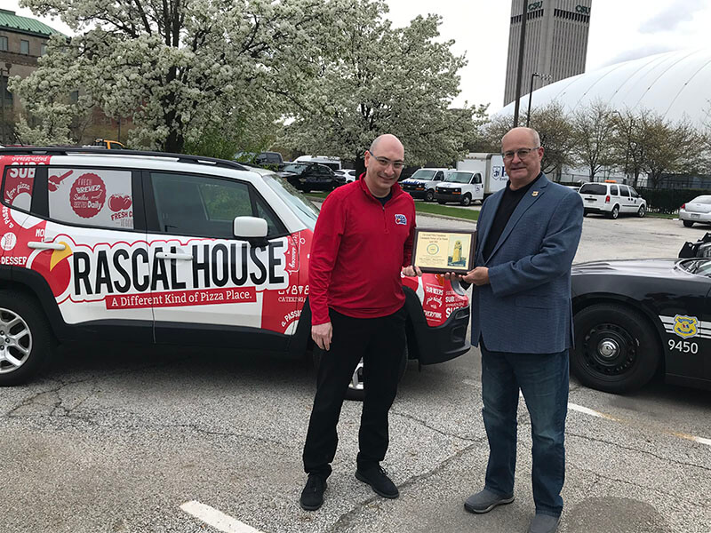 April 2021 Community Partner of the Month Niko Frangos of Rascal House and Executive Director Richard DeChant